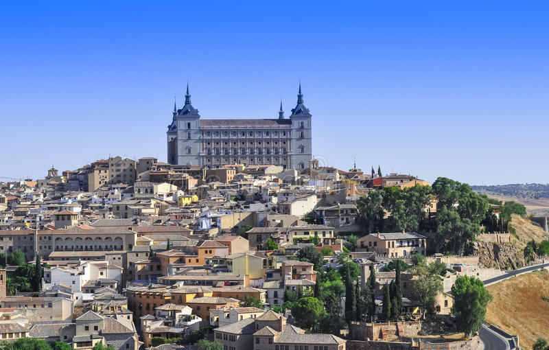 Toledo Spain. Architecture of building and cottage at Toledo Spain stock photo