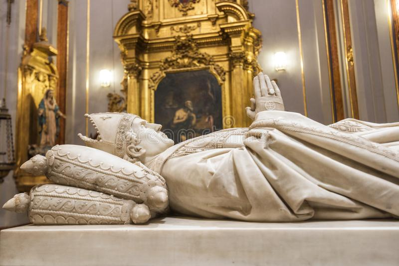 Toledo, Spain - December 16, 2018 : Interior of Doncellas Nobles Church, Toledo, Spain royalty free stock image