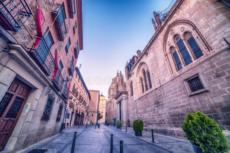 Toledo, Spain: the old town and the Cathedral stock photo