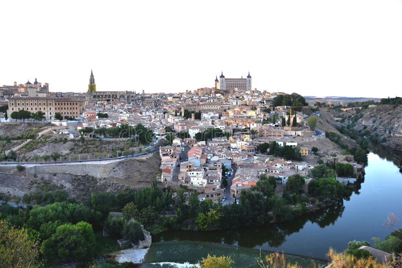 Toledo, Spain old town cityscape at the Alcazar stock image