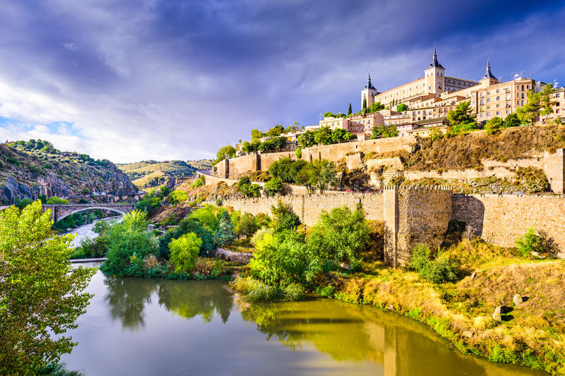 Toledo, Spain Old Town Skyline stock image