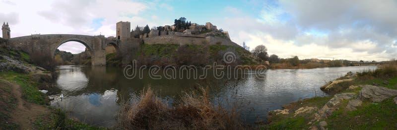Toledo Spain-panorama royalty-vrije stock afbeeldingen