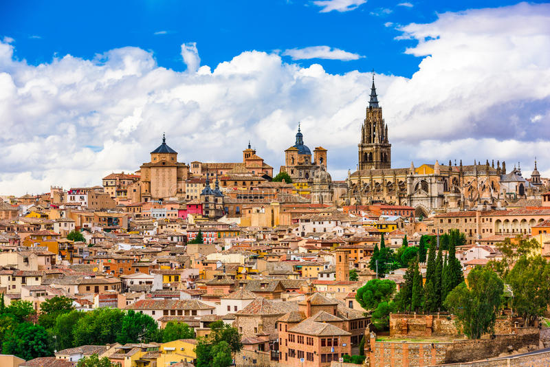 Toledo Spain Skyline royaltyfria foton