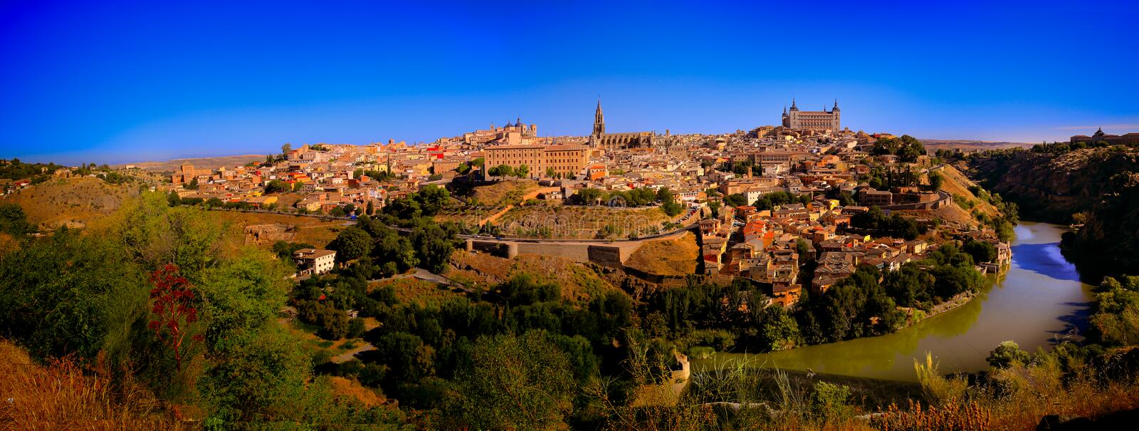 Toledo Spain. Toledo (Spanish: [toˈleðo]) is a municipality located in central Spain, 70 km south of Madrid. It is the capital of the province of Toledo royalty free stock image