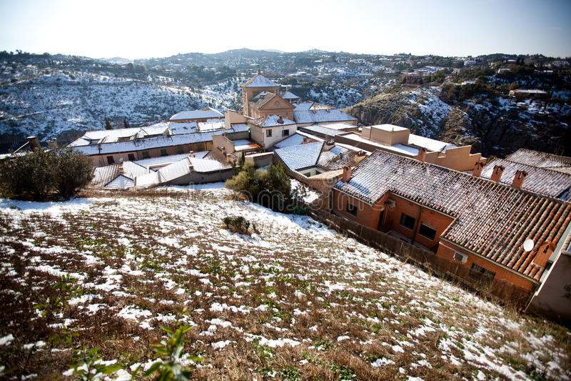 Toledo Spain in winter royalty free stock photography