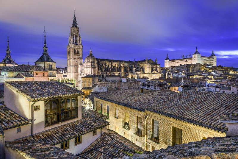 Toledo Spanien stadhorisont royaltyfria foton