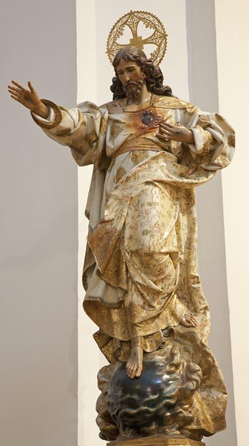 Toledo - statue ressuscitée du Christ d'église Iglesia de San Idefonso images stock