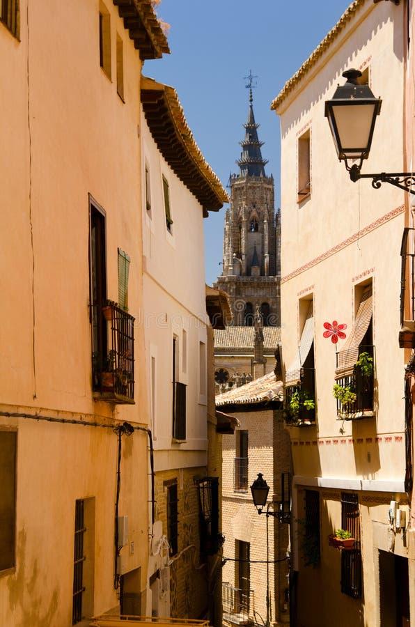 Toledo-Straßenansicht stockfotografie