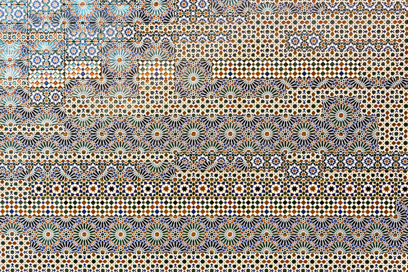 Toledo tiles. Traditional spanish tiles on the wall in Toledo, Spain royalty free stock photography