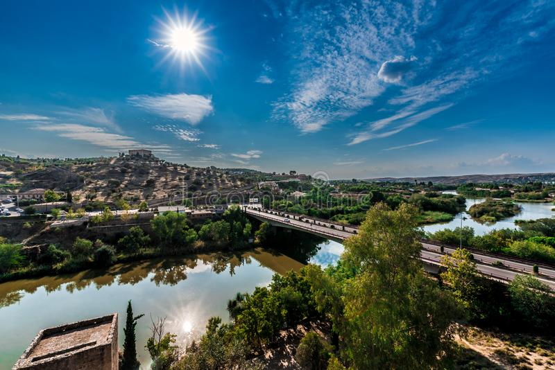 Toledo wide view Spain royalty free stock images