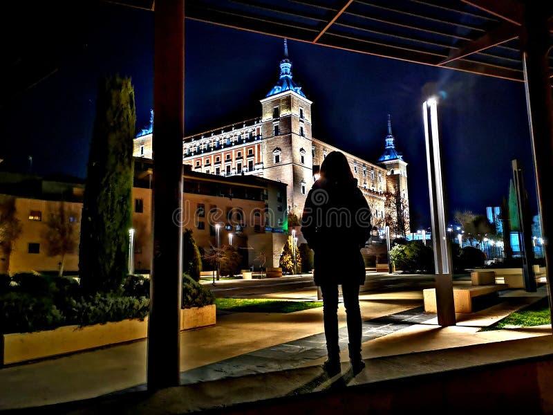 Toledo y night stock photo