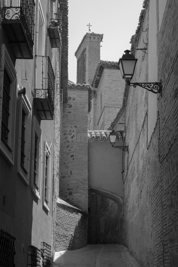 Toledo in zwart-wit royalty-vrije stock fotografie