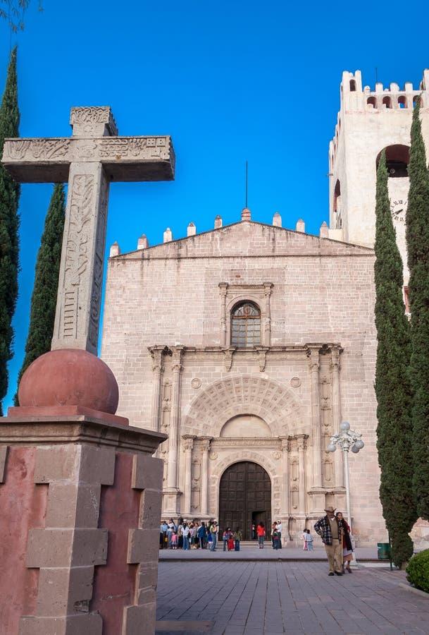 Tolentino kloster Actopan Mexico arkivfoton