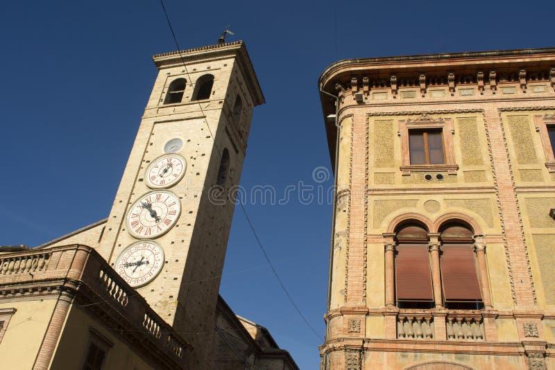 Tolentino, la tour des montres photographie stock