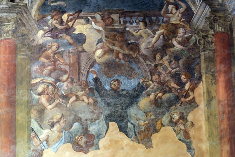 Tolentino (Marsen, Italië) stock afbeelding