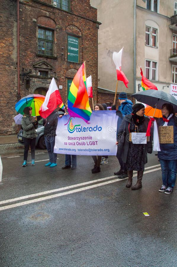Download Tolerado LGBT Organisation At National Independence Day In Gdansk In Poland. Celebrates 99th Anniversary Of Independence. Editorial Stock Image - Image of celebrate, poland: 103895339