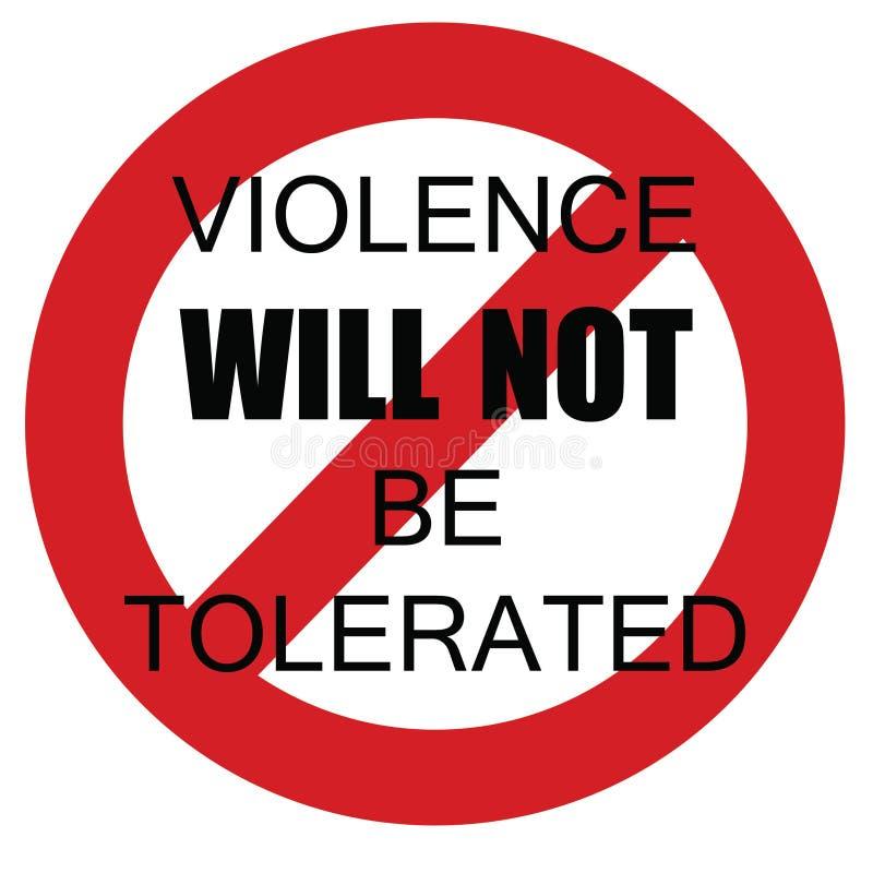 Tolerancia cero de la violencia libre illustration
