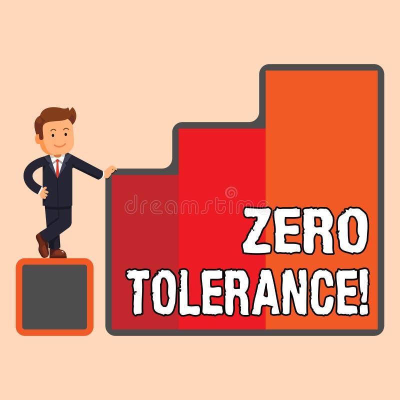 Tolerancia cero del texto de la escritura La denegación del significado del concepto acepta comportamiento antisocial típicamen ilustración del vector