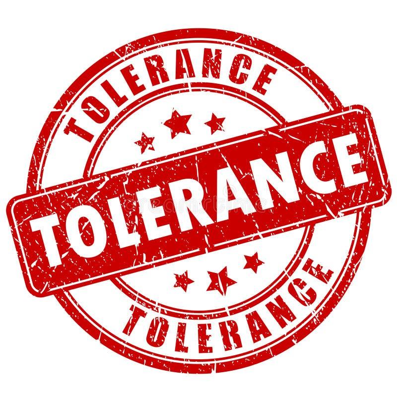 Tolerancja znaczek ilustracja wektor