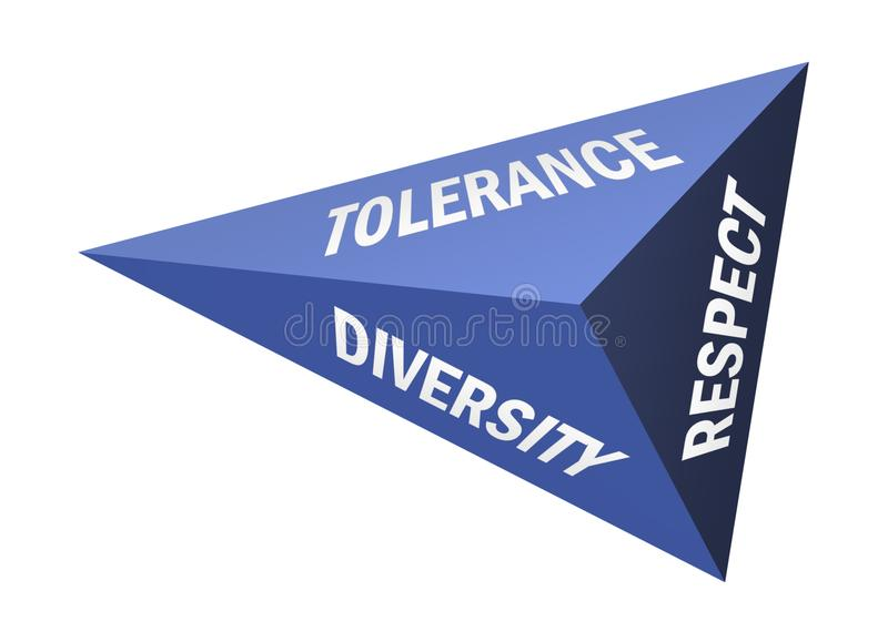 Tolerantie en eerbied vector illustratie