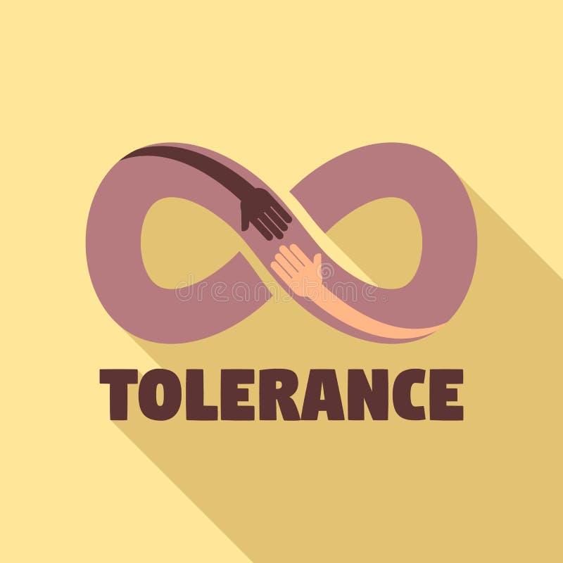 Tolerantieembleem, vlakke stijl vector illustratie