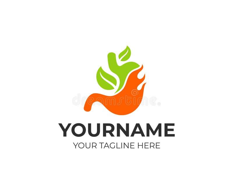 Tolere o cuidado e o tratamento natural com homeopatia, molde do logotipo Órgão interno do ser humano, projeto do vetor ilustração royalty free