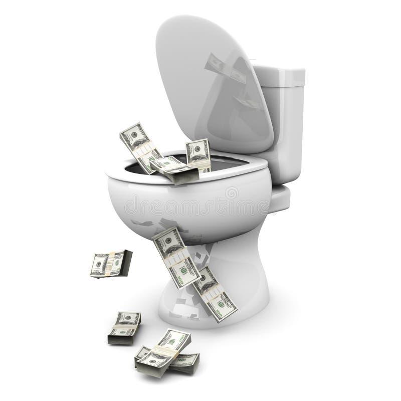Toletta del dollaro illustrazione vettoriale