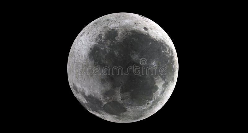 Tolkning av den realistiska månen vektor illustrationer