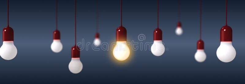 Tolkning av ljusa kulor på blå bakgrund vektor illustrationer