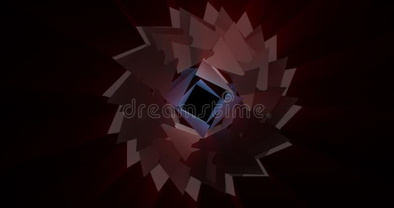 tolkning 3d av den låga poly trevliga färgcirkeln med kaotisk structur stock illustrationer