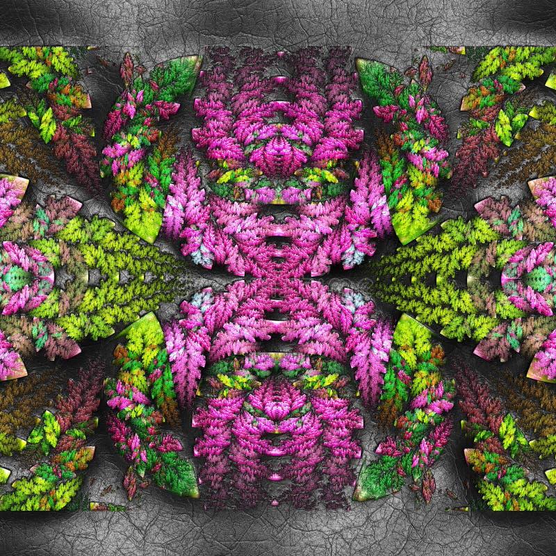 tolkning 3D av den plast- fractalen p? l?der arkivfoto