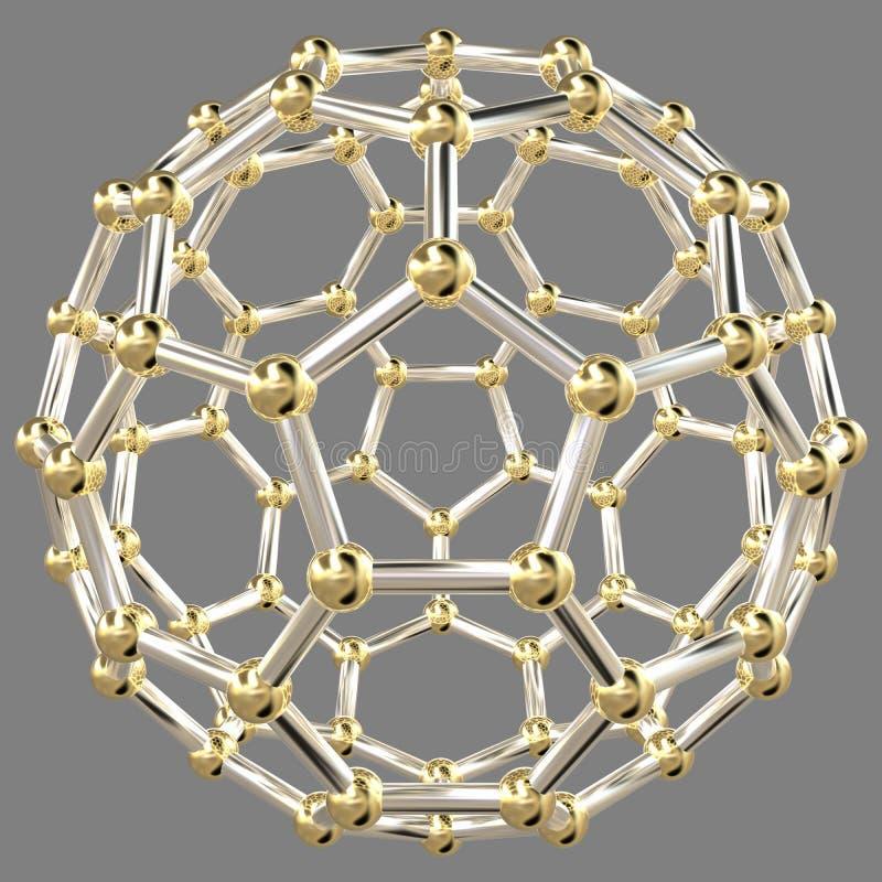 tolkning 3D av en abstrakt geometrisk form vektor illustrationer