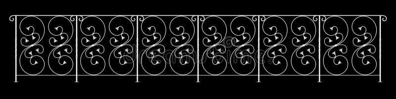 tolkning 3d av en staketräckedesign på en svart bakgrund stock illustrationer