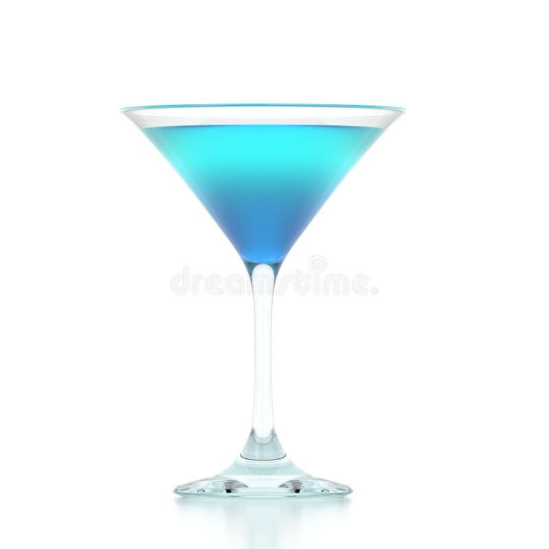 tolkning 3D av ett martini exponeringsglas på vit bakgrund stock illustrationer