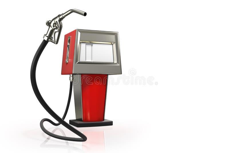 tolkning 3d av gaspistolen med röda retro dispens för en bensin stock illustrationer