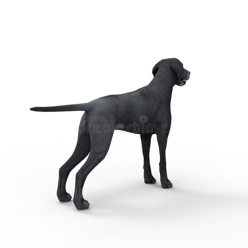 tolkning 3d av hunden som skapas, genom att använda ett blandarehjälpmedel royaltyfri illustrationer