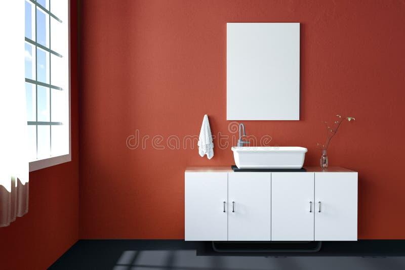 tolkning 3d: illustration av den övre ramen för vitåtlöje Geometrisk abstrakt bakgrund för design åtlöje upp den vita affisch- el stock illustrationer