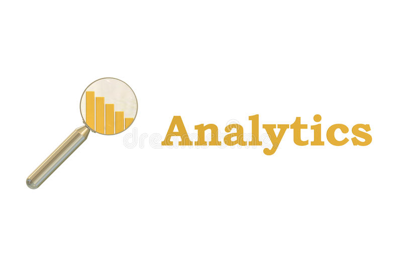 Tolkning för Analyticsbegrepp 3D stock illustrationer