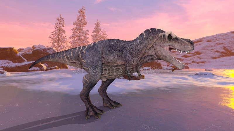 tolkning för 3D CG av dinosaurier vektor illustrationer