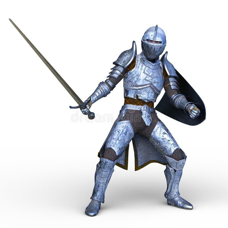tolkning för 3D CG av krigaren stock illustrationer