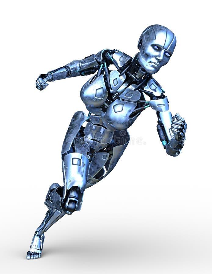 tolkning för 3D CG av roboten royaltyfri illustrationer