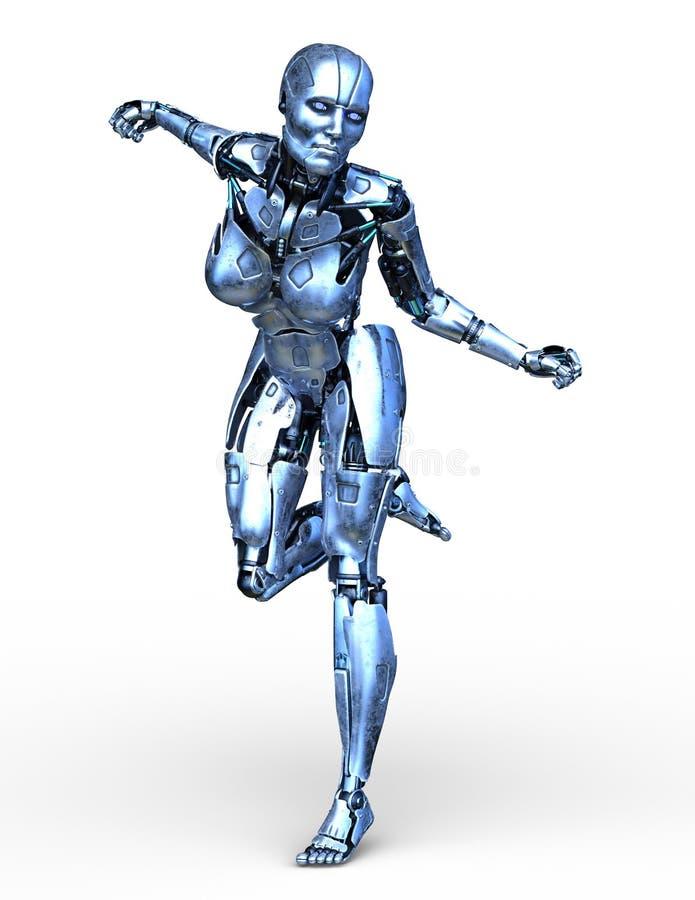 tolkning för 3D CG av roboten vektor illustrationer