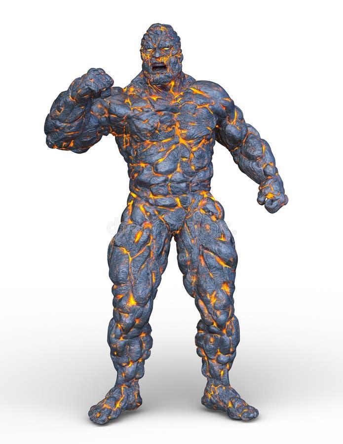 tolkning för 3D CG av stenmannen royaltyfri illustrationer