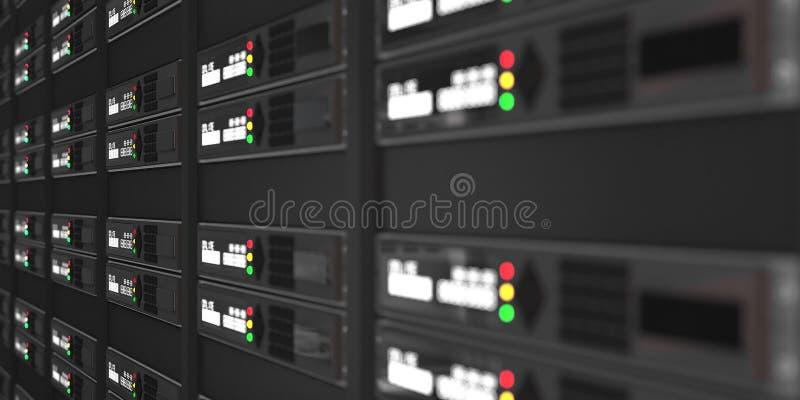 Tolkning för datorserveror 3d royaltyfri foto
