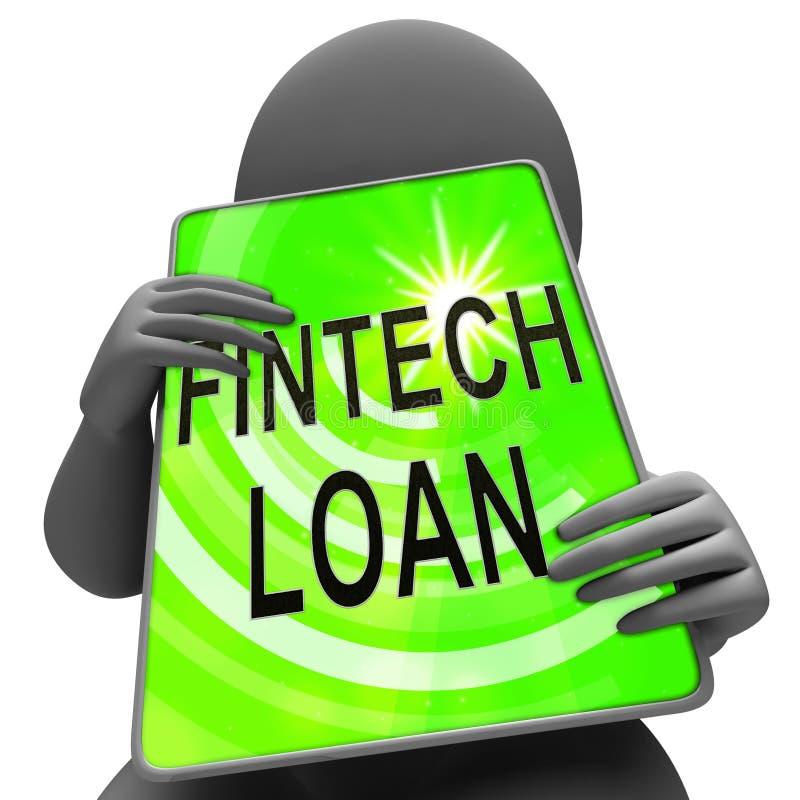 Tolkning för kreditering 3d för finans för Fintech lånP2p stock illustrationer