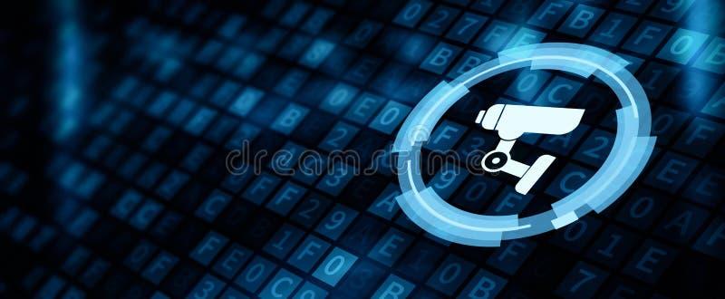 Tolkning för säkerhet för system för CCTV-kamerasäkerhet 3D stock illustrationer