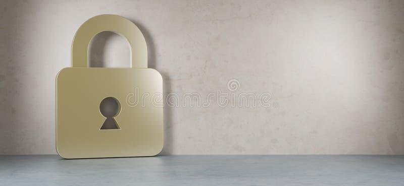 Tolkning för Smarthome säkerhet 3D stock illustrationer