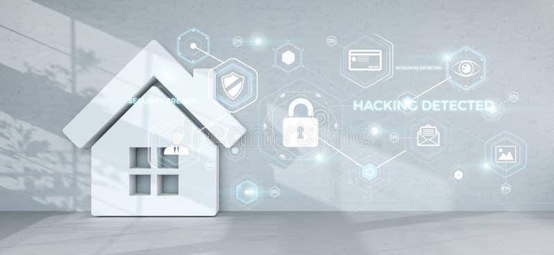 Tolkning för Smarthome säkerhetsmanöverenhet 3D vektor illustrationer