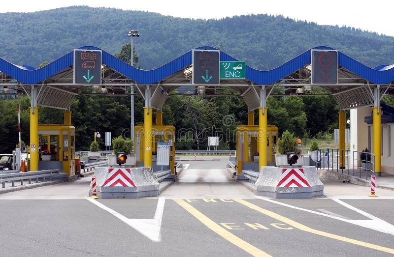 Toll gate in Croatia royalty free stock images