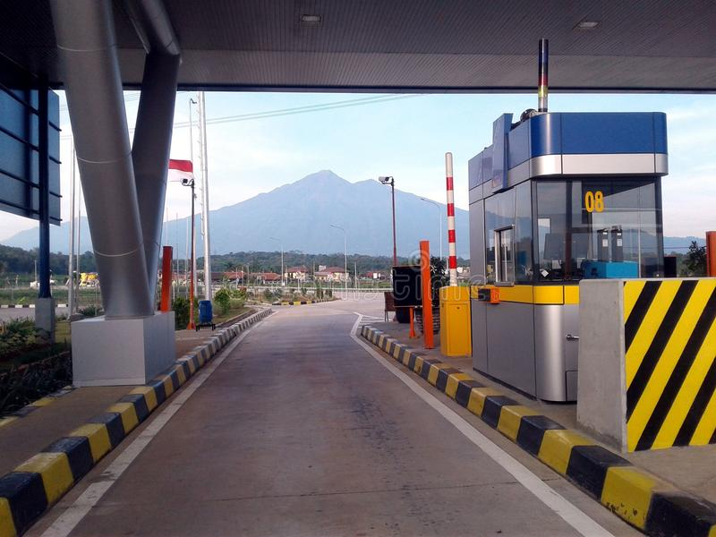 Toll gate. Salatiga toll gate is the final toll gate of Toll Road bawen-salatiga direction solo.The toll gate is also a toll gate entrance Salatiga-Bawen Toll royalty free stock image